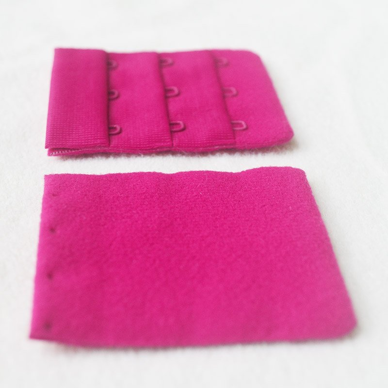 3*3 microfiber/soft brushed seamless hook and eye tape