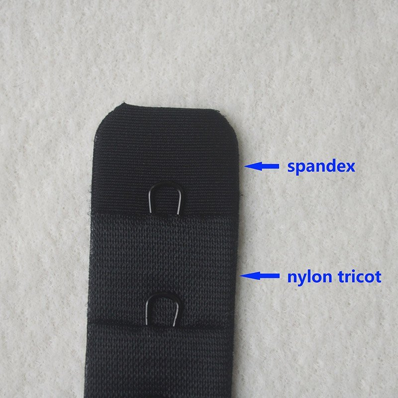 4*1 tricot/spandex seamless underwear hook and eye tape