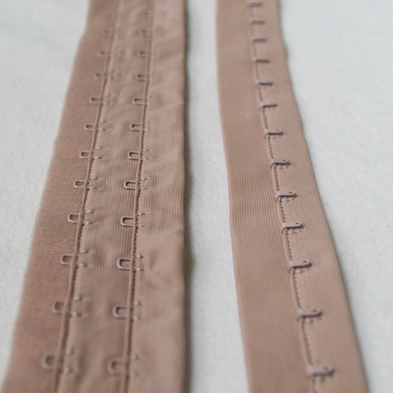 Uncut 2x3/4 bra hook and eye tape visible sewing