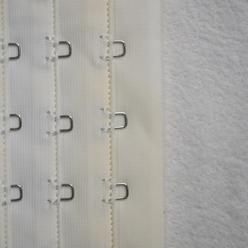 Uncut 3x3/4 bra hook and eye tape all tricot front all brushed back