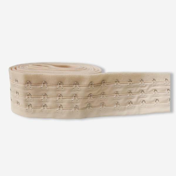 Uncut 3x3/4 Reinforced corset hook and eye tape