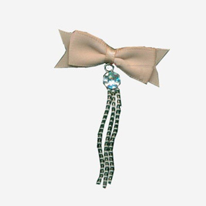 pearl chiffon polyester wire ribbon bow Mayrose