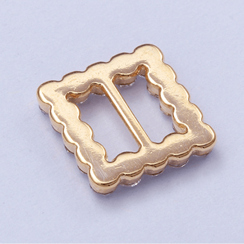 Zinc alloy adjuster special slider 8612 with rhinestone