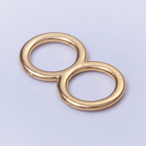Zinc alloy adjuster slide 006-2 rose gold plating