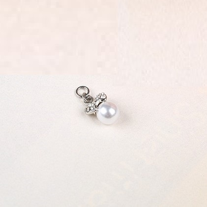 bra charms 8327 zinc alloy with pearl