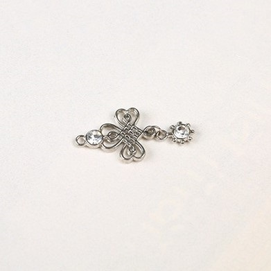 bra charms 1006 zinc alloy with diamond