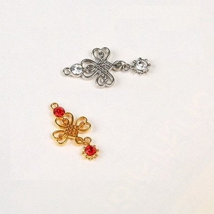 bra charms 1006 zinc alloy with diamond