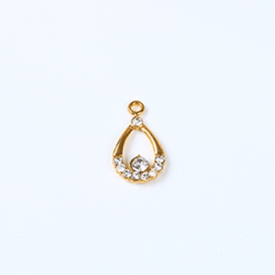 bra charms 7070 zinc alloy with rhinestone