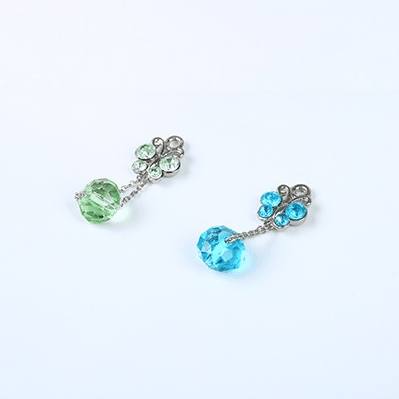 bra charms wk001 zinc alloy with crystal