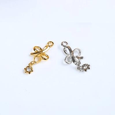 bra charms 7068 zinc alloy with jewel