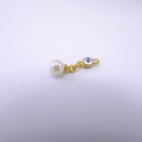 bra charms 9071 gold plating with pearls