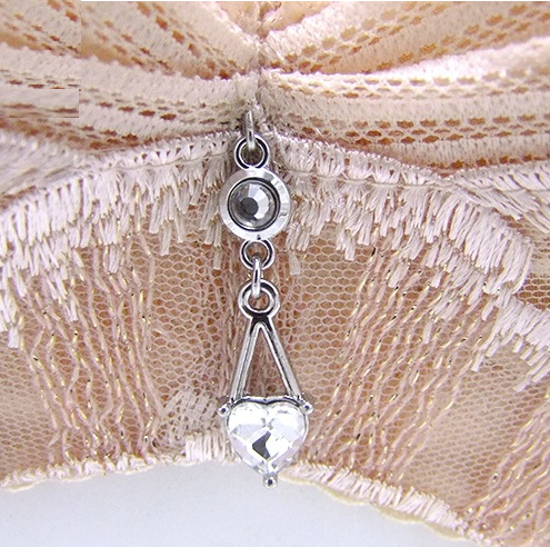 bra charms 7439 silver plating with crystal
