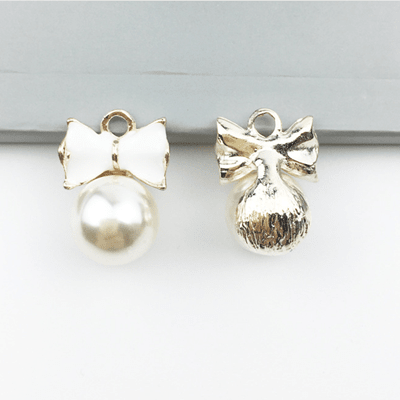 bra charms 1081 bow with pearls