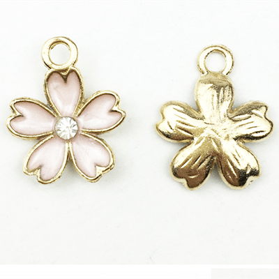 bra charms 1286 flower with diamond or pearl