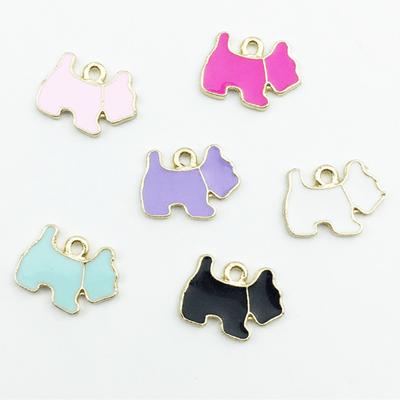 bra charms 1360 coloured dog shape