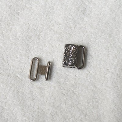 Zinc alloy adjuster front closure with rhinestone JT425