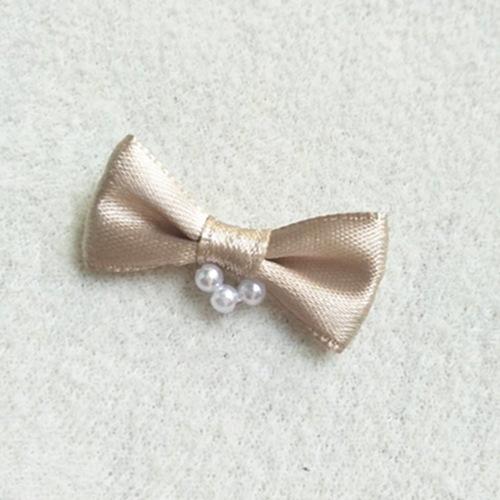 nylon ribbon bow #53638 with pearl