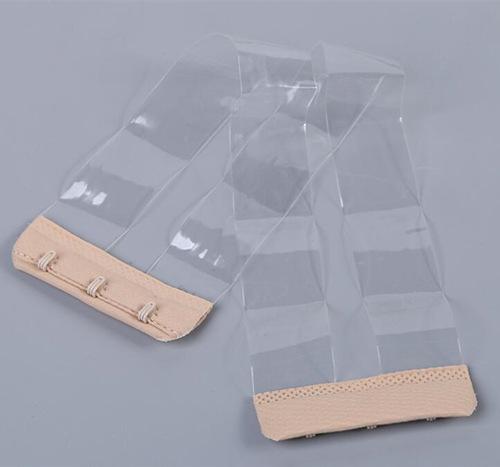 hook tape with transparent bra strap