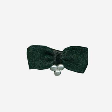 nylon ribbon bow #18 with pearls