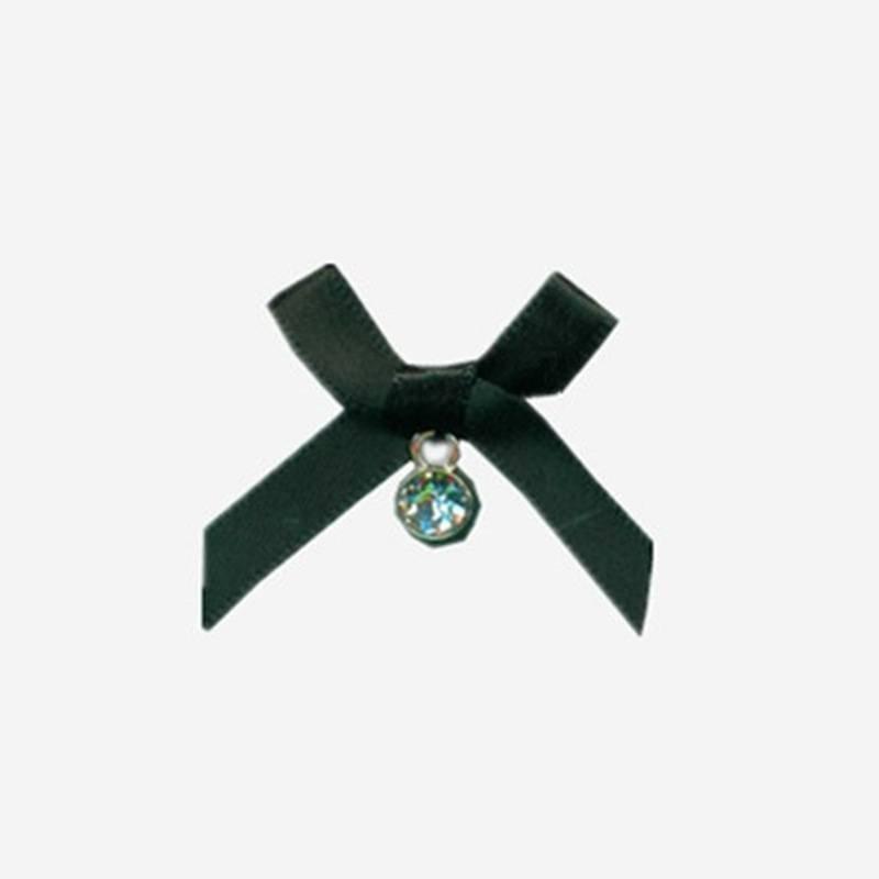 nylon ribbon bow #32 with rhinestone diamond