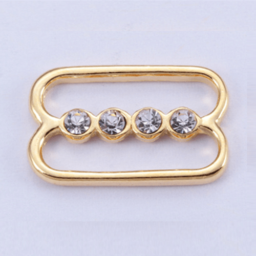 Zinc alloy adjuster front buckle 10610 with rhinestone