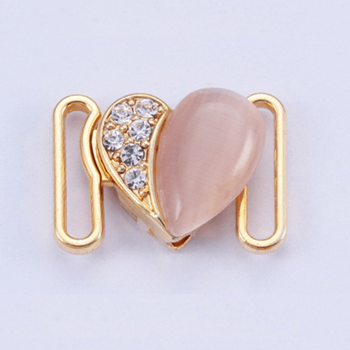 Zinc alloy adjuster front buckle 9781 with opal and rhinestone