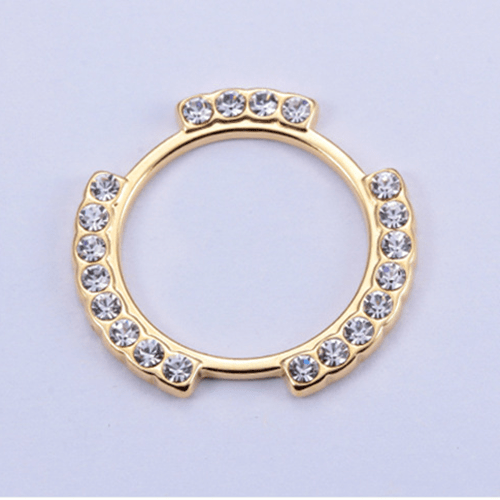 Zinc alloy adjuster speical ring 8710 with rhinestone