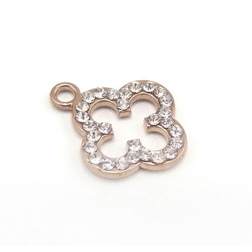 bra charms 4338 zinc alloy with diamond