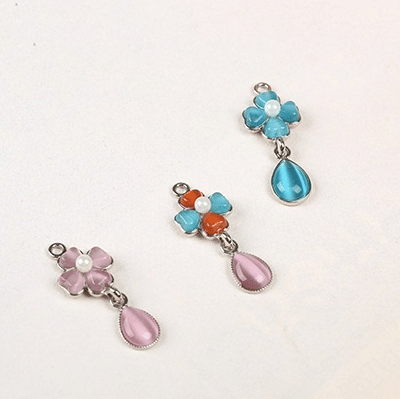 bra charms 9012 zinc alloy with opal