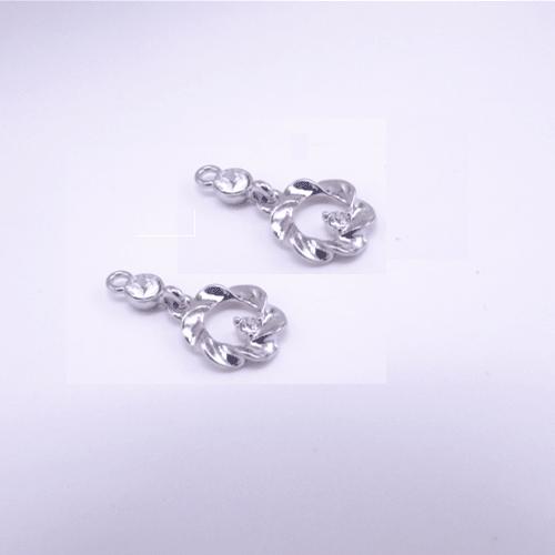 bra charms 8776 silver plating with rhinestone