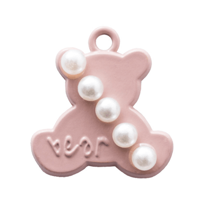 bra charms 1182 bear with pearls