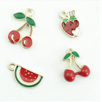 bra charms 1158 cherry,watermelon,strawberry