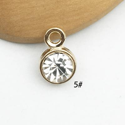 bra charms 1329 gold  rhinestone