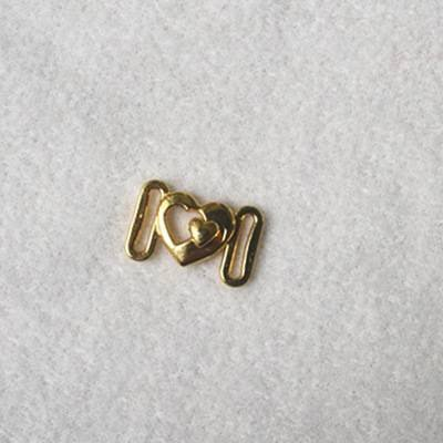 Zinc alloy adjuster front closure heart shape JT1036