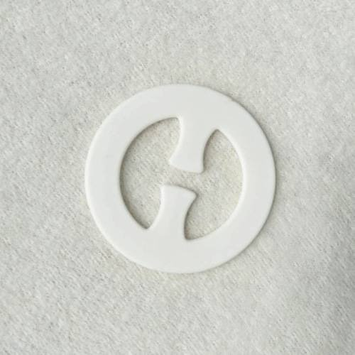 Plastic bra strap clips O shape
