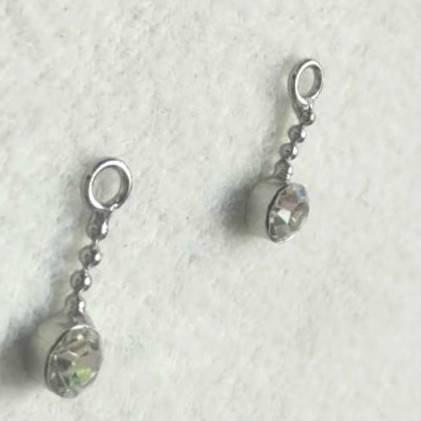 bra charms 6622  with rhinestone