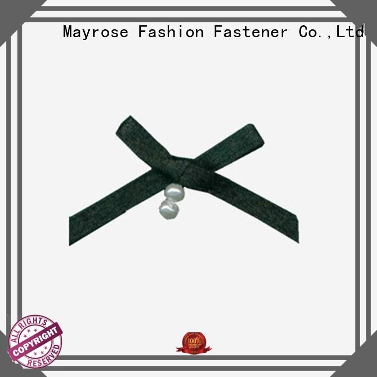 Mayrose Brand nylon pearls flower polyester bra with bow