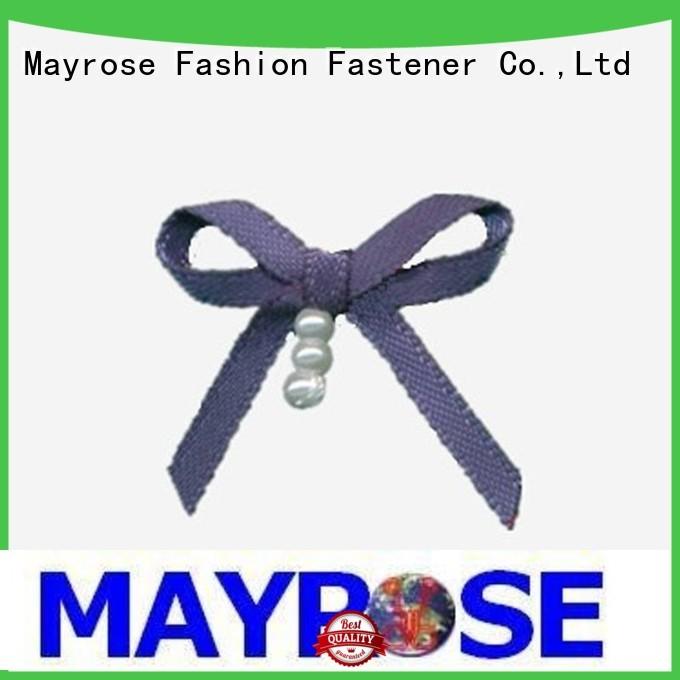 polyester flower chiffon rhinestone wire ribbon bow Mayrose Brand