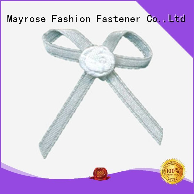 Hot wire ribbon bow pendant bra with bow pearl Mayrose