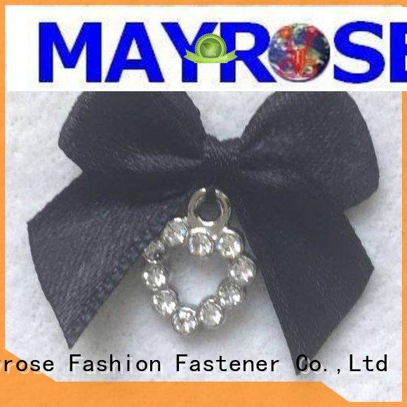 Custom polyester rhinestone bra with bow Mayrose bow