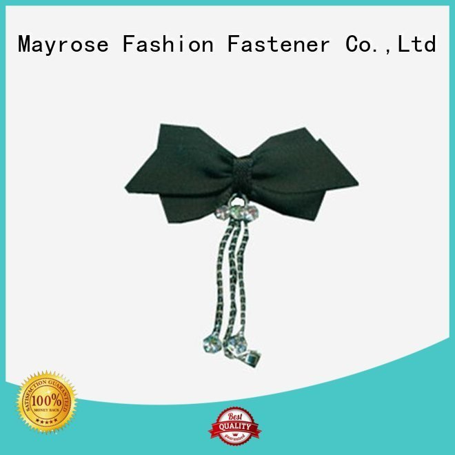 Mayrose Brand polyester pearl nylon bra with bow chiffon