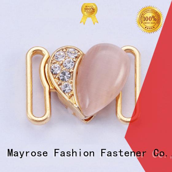 Mayrose bra strap buckle rhinestone front adjuster golden