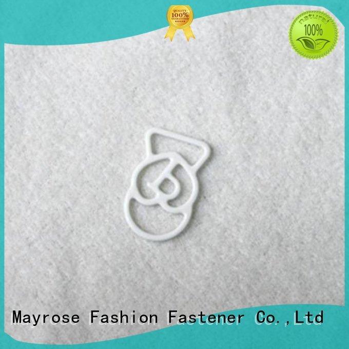 Custom ring size bra strap adjuster clip Mayrose coated